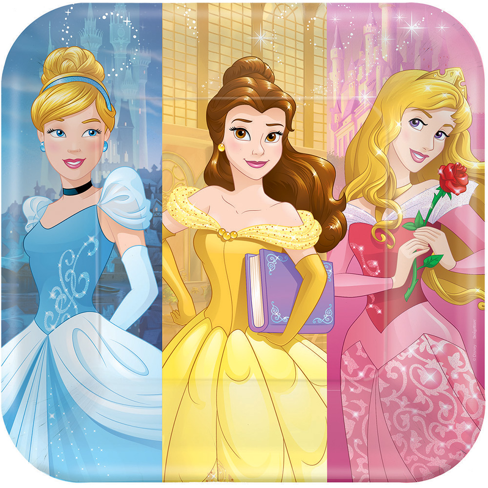 """Disney Princess 9"""" Luncheon Plates (8 Pack) - Party Supplies"""