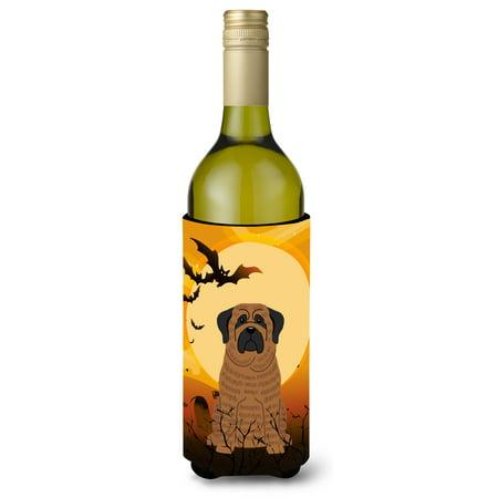 Halloween Mastiff Brindle Wine Bottle Beverge Insulator Hugger BB4281LITERK (Wine Bottle Halloween Crafts)