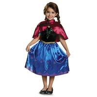 Disguise Disney Frozen Anna Deluxe Costume with Felt Headband 3T-4T