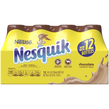 Chocolate Powdered Milk (NESQUIK Chocolate Low Fat Milk 12-8 fl oz Bottles)