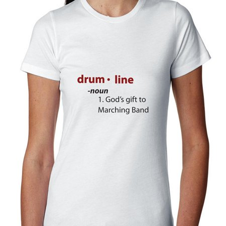 Drum Line God's Gift To Marching Band Dictionary Women's Cotton T-Shirt
