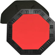 "Trademark Poker 48"" 8-Player Octagonal Table Top, Red"