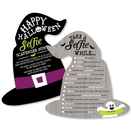 Happy Halloween - Selfie Scavenger Hunt - Witch Party Game - Set of 12 - Games Baby Hazel Happy Halloween