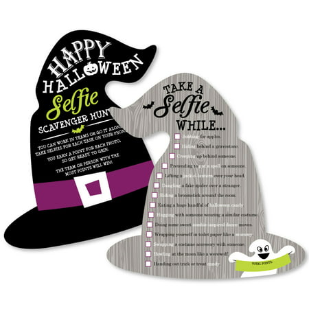 Happy Halloween - Selfie Scavenger Hunt - Witch Party Game - Set of 12](Halloween Selfie)