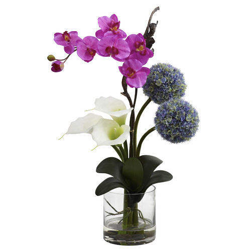 Nearly Natural Calla, Orchid and Ball Flower Arrangements