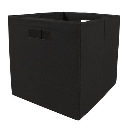 Better Homes & Gardens Fabric Black Storage Bin