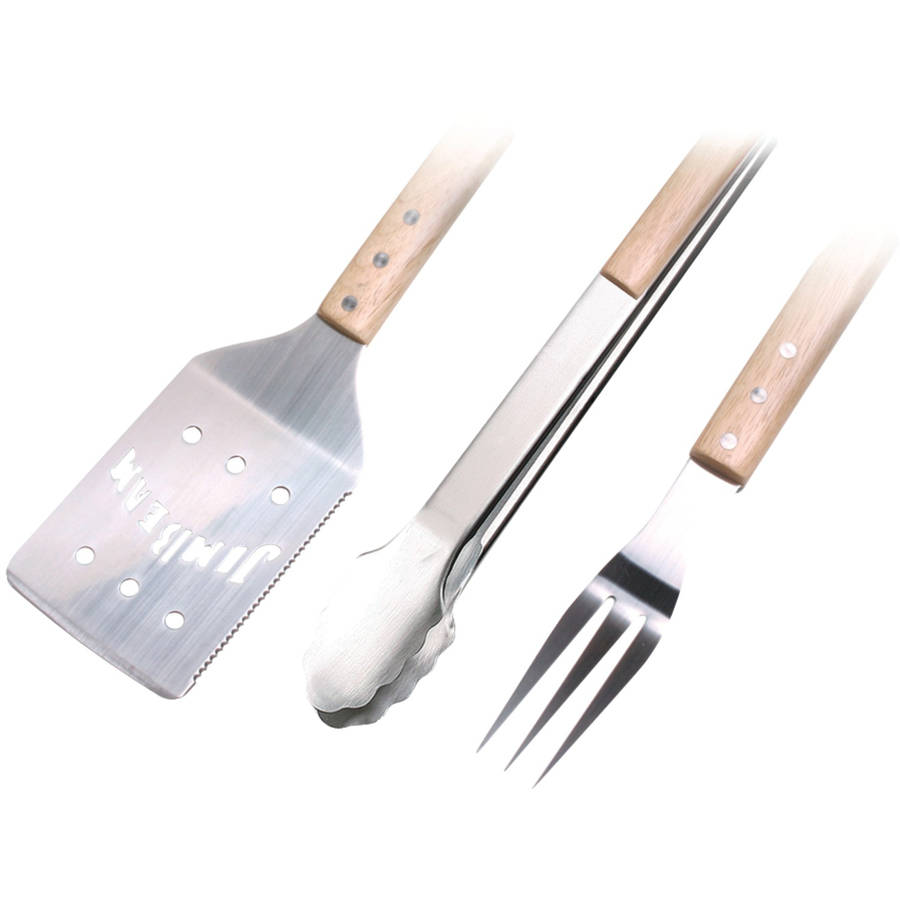 Jim Beam Jb0157 3pc Bbq Set with Spatula, Fork and Tongs