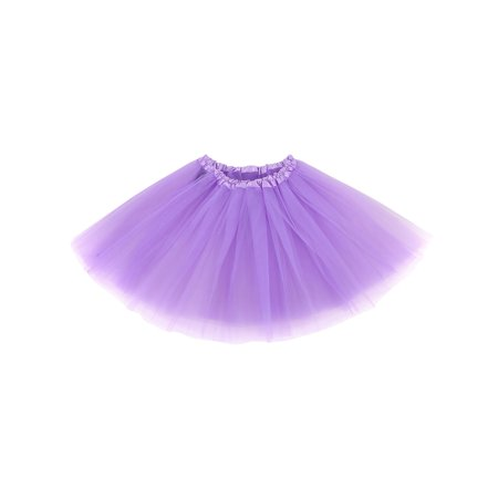 Halloween Costume Accessory 3-Layered Tulle Tutu Skirt,Lavender