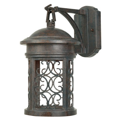 "Mediterranean Patina 1 Light 7"" Wall Lantern"
