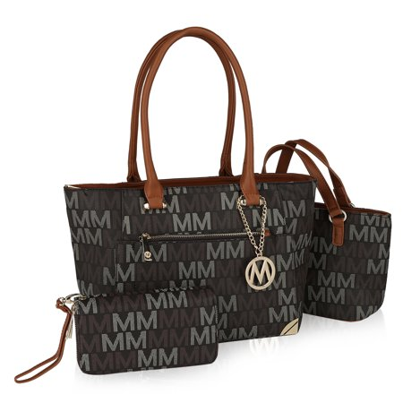 MKF Collection by Mia K. Lady M Signature Tote set (Tote-Mini Tote) with Wristlet