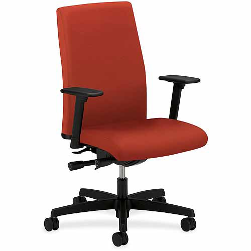 HON Executive Mid-Back Poppy Chair, Crimson Red