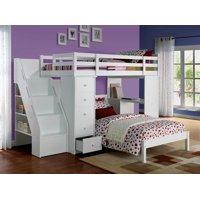 ACME Freya Loft Bed & Twin Bed in White