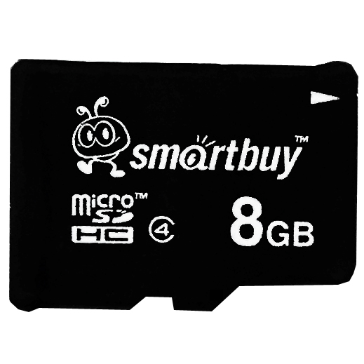 Smartbuy 8GB Micro SDHC Class 4 TF Flash Memory Card SD HC C4 Fast Speed for Camera Mobile Phone Tab GPS MP3 TV