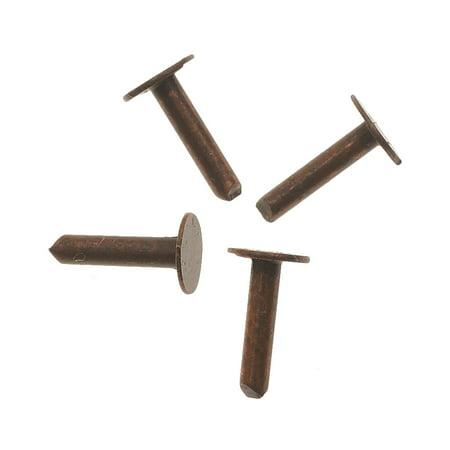 1/4 Inch Rivet - Vintaj Artisan Copper, 1/4 Inch Nail head Rivets for Leather, 20 Pieces