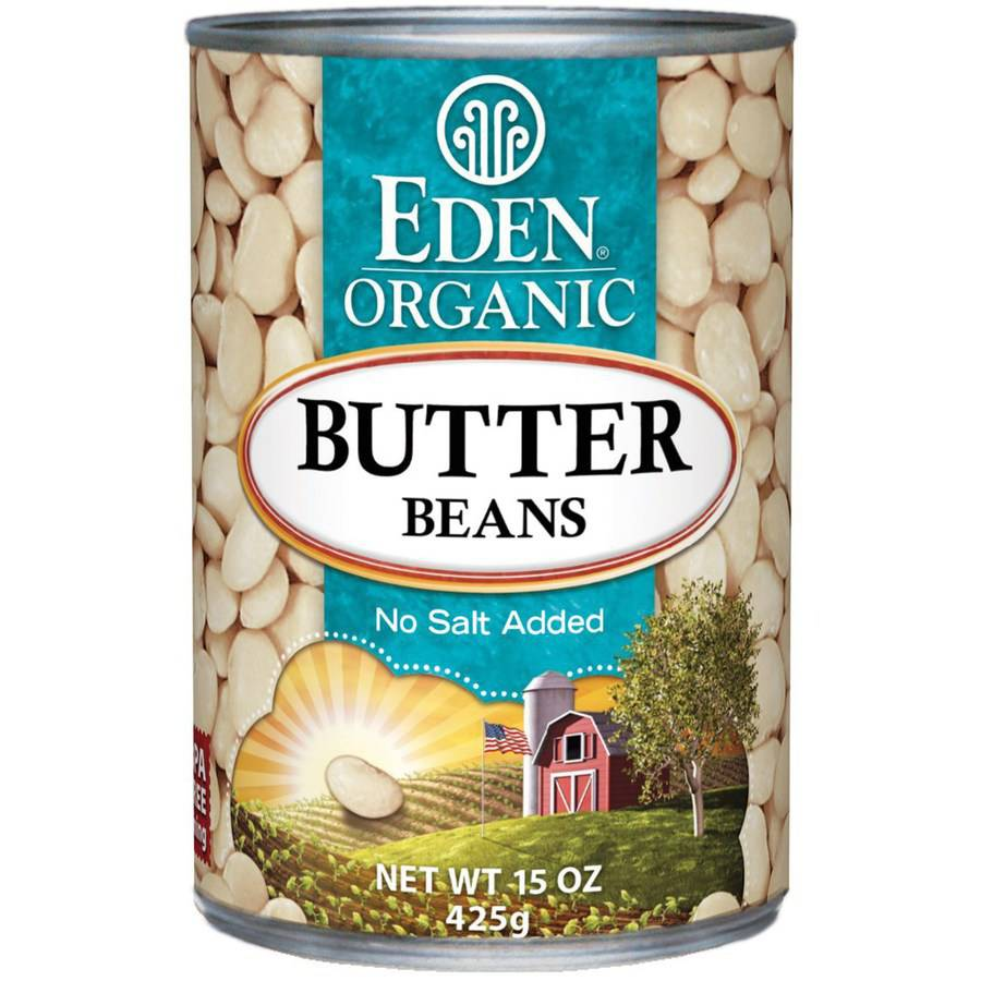 Eden Butter Beans, Organic, 15 Ounce (Pack of 6) by