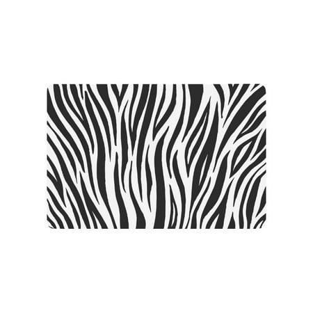 American Zebra Line - MKHERT Zebra Print Animal Skin Abstract Lines Doormat Rug Home Decor Floor Mat Bath Mat 23.6x15.7 inch