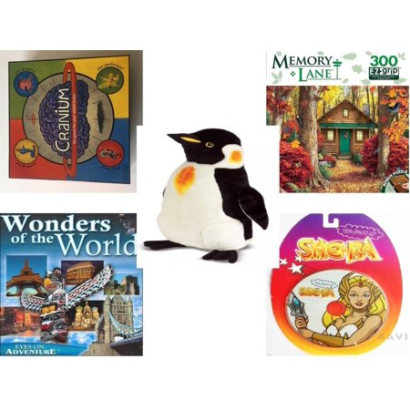 Children's Gift Bundle [5 Piece] -  2002 Cranium  - Hidden Retreat Memory Lane   - Melissa & Doug Penguin Large  24