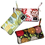 BMC Mixed Design Washable Foldable Wallet Style Nylon Reusable Grocery Bags Tote - (Various Design) Set of 3