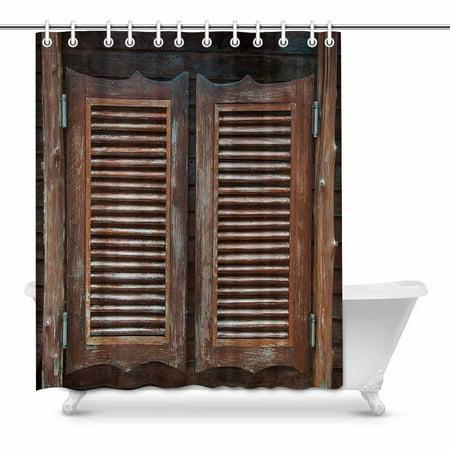 MKHERT Old Western Cowboy Bar Swinging Saloon Doors Decor Waterproof Polyester Fabric Shower Curtain Bathroom Sets 60x72 inch (Old Western Saloon Decor)