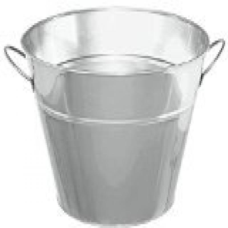 Grasslands Road Silver Metal Party Drink Chiller Tub with Handles