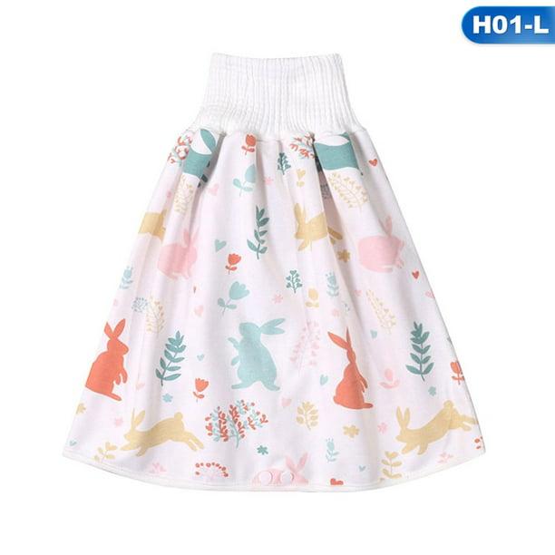 Lanbowo Comfy Childrens Diaper Skirt Shorts 2 in 1 Waterproof Leak-proof Washable Baby Kid Diaper Skirt Pants Waterproof And Absorbent