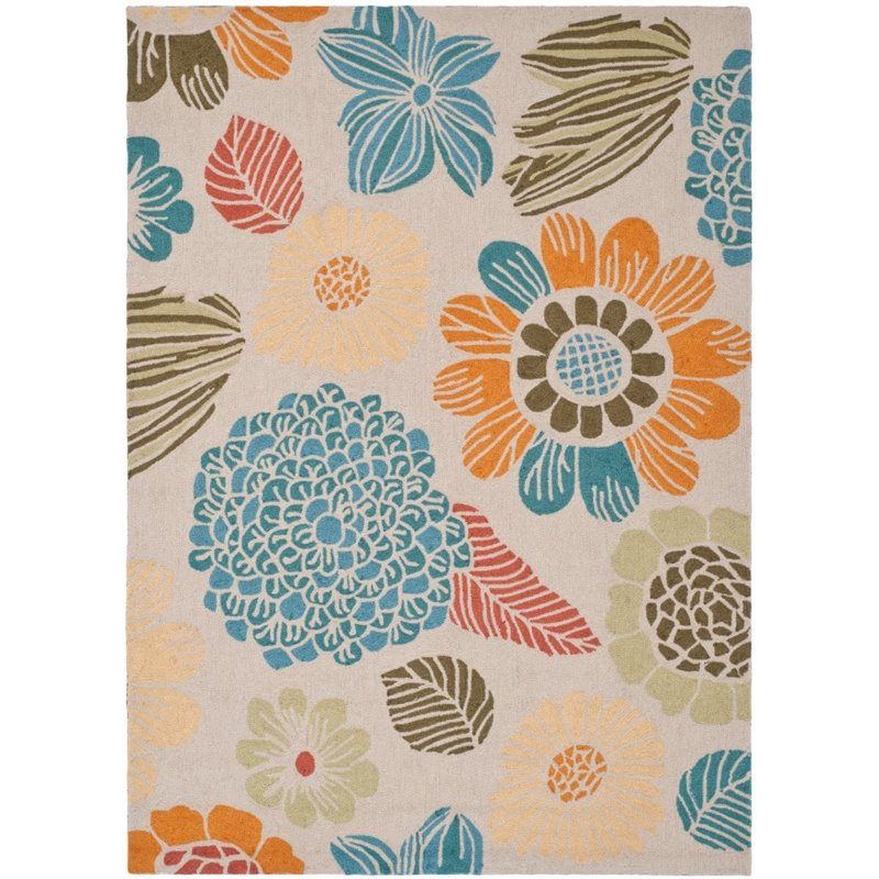 """Safavieh Four Seasons 2'3"""" X 3'9"""" Hand Hooked Rug in Ivory - image 2 of 2"""