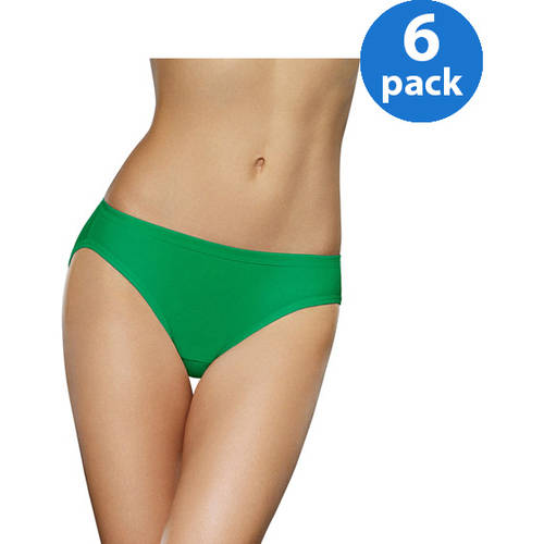 Fruit of the Loom Ladies' 6pk Cotton Assorted Bikinis