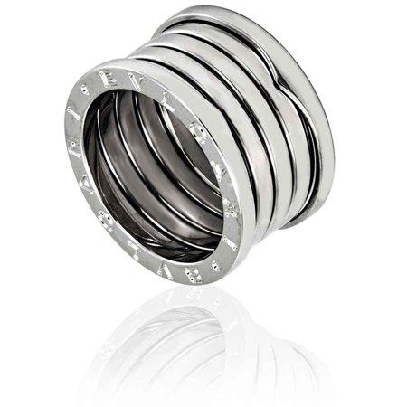 Bvlgari B.zero1 18kt White Gold Five-band Size 6 1/4 Ring AN191028-S52