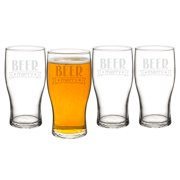 19 oz. Beer Merry Pilsner Glasses by Cathys Concepts