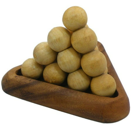 Puzzle Balls (Pyramid Ball Fancy - 3D Wooden Brain Teaser)