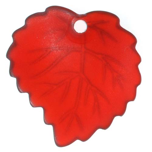 Lucite Aspen Leaves Ruby Red Light Weight 16mm (4)