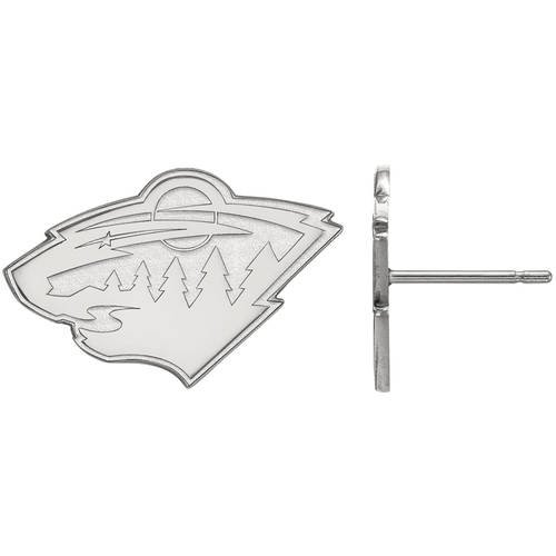 LogoArt NHL Minnesota Wild Sterling Silver Small Post Earrings