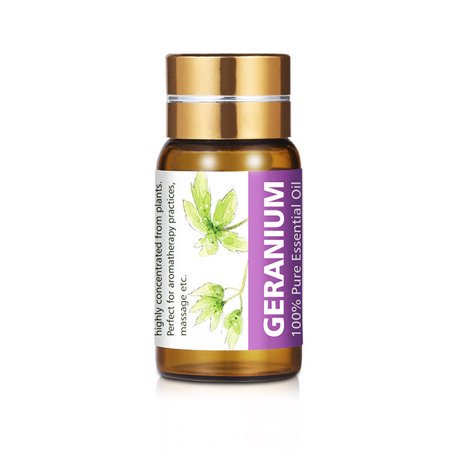 Geranium Essential Oil By KIUNO,5ml Pure Natural Aromatherapy Oil For Personal Care ()