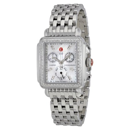 Michele Deco Day Mother of Pearl Dial Ladies Watch MWW06P000110
