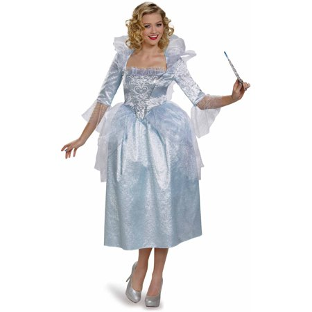 Cinderella Movie Fairy Godmother Deluxe Adult Dress Up / Role Play Costume - Disney Character Fancy Dress Adults