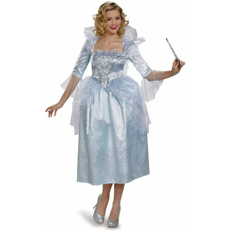 Cinderella Movie Fairy Godmother Deluxe Adult Dress Up / Role Play Costume (Fairy Costume For Teens)