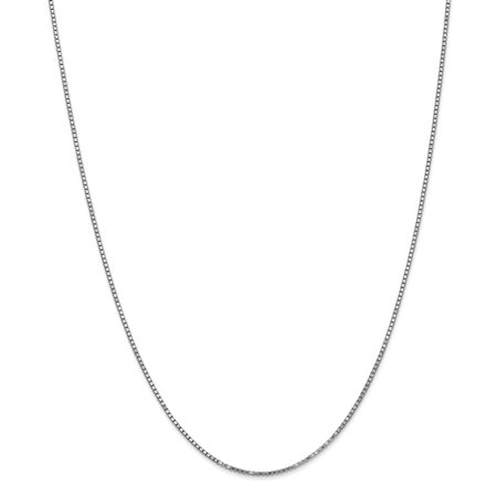 10k White Gold 1.30mm Link Box Necklace Chain Pendant Charm Fine Jewelry Gifts For Women For Her - image 9 de 9