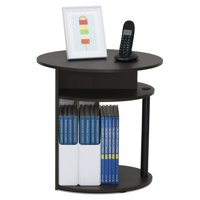 Deals on Furinno 15080WNBK JAYA Simple Design Oval End Table