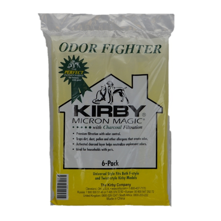 Kirby Vacuum Odor Fighter Filter Bags 6 Pack OEM # 202916