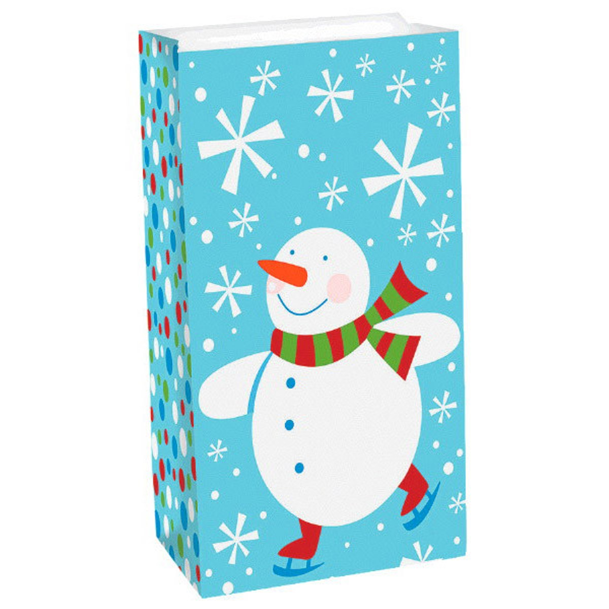 Christmas Snowman Frosty Friends 12 Ct Treat Bags Paper Sack
