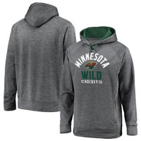 Minnesota Wild Fanatics Branded Battle Charged Raglan Pullover Hoodie - Gray