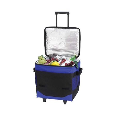 Picnic at Ascot 60-Can Collapsible Rolling Cooler Royal Blue OSFA