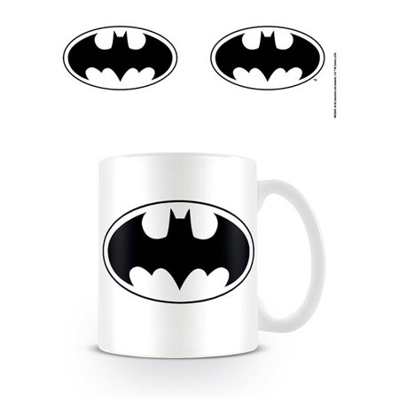 Batman - DC Originals - Ceramic Coffee Mug / Cup (Bat Logo - B&W)](Batman Mug)