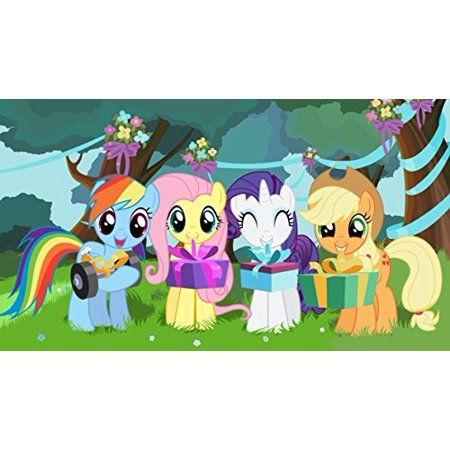 My Little Pony Rainbow Dash Applejack Rarity Fluttershy Edible Cake Topper Frosting 1 4 Sheet Birthday Party