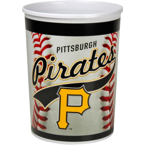 Pittsburgh Pirates Plastic Baseball Wastebasket - No Size