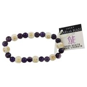Zorbitz - Karmalogy Lucky Karma Beads Bracelet Amethyst Good Health Inner Strength