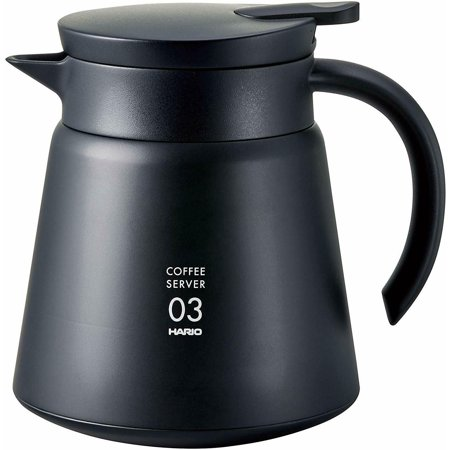 Hario Vacuum Insulated Stainless Steel Server 800ml, Black (VHS-80B) Stainless Steel Vacuum Insulated Server