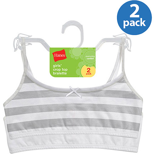 Hanes Girls' Crop Bralette 2 Pack