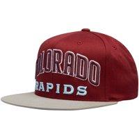 Colorado Rapids Mitchell & Ness Wordmark Flex Adjustable Snapback Hat - Maroon - OSFA