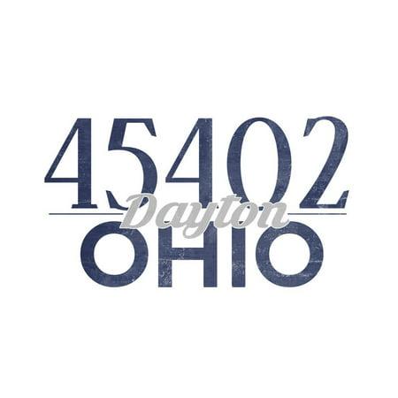 Halloween Stores Dayton Ohio (Dayton, Ohio - 45402 Zip Code (Blue) Print Wall Art By Lantern)